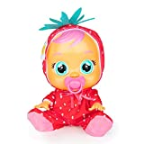 BEBÉS LLORONES Tutti Frutti Ella, la fresa Muñeca interactiva que llora de verdad con chupete y pijama con olor a fruta, muñeco para niñas y niños +18 meses