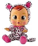 Bebés Llorones Lea - Muñeca interactiva que llora de verdad con chupete y pijama de Leopardo